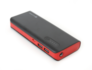 PLATINET POWER BANK 8000mAh + microUSB cable + torch black/red
