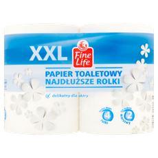 Fine Life Papier toaletowy XXL najdłuższe rolki 4 rolki