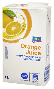 Aro Sok pomarańczowy z zagęszczonego soku pomarańczowego 1 l
