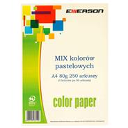 Emerson Papier kolorowy pastelowe kolory mix 250 arkuszy 80 g A4