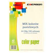 Emerson Papier kolorowy pastelowe kolory mix 100 arkuszy 80 g A4