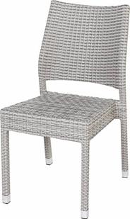 Krzesło rattanowe Barbados, kolor biały przecierany