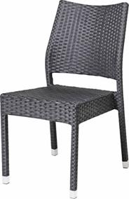 Krzesło rattanowe Barbados, kolor czarny