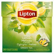 Lipton o smaku Cytryna i melisa Herbata zielona aromatyzowana 32 g (20 torebek)