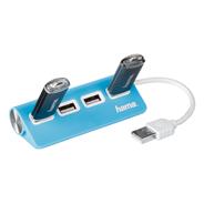 HUB 1:4 USB 2.0 niebieski