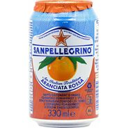 Sanpellegrino Aranciata Rossa Napój gazowany o smaku czerwonej pomarańczy 6 x 330 ml