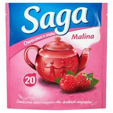 Saga Herbatka owocowa o smaku malina 34 g (20 torebek)