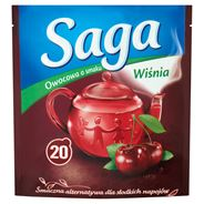 Saga Herbatka owocowa o smaku wiśnia 20 torebek