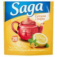 Saga Herbatka owocowa o smaku cytryna i mięta 34 g (20 torebek)