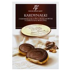 Tago Kardynałki Herbatniki z kremem kakaowo-orzechowym i czekoladą mleczną 180 g