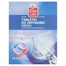 Fine Life Tabletki do zmywarki Fresh 400 g (20 x 20 g)