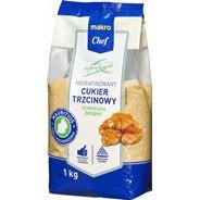 Cukier trzcinowy drobny 1kg Makro Chef