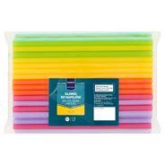 Makro Professional Słomki do shake'ów mix kolorów proste 24 cm 100 sztuk