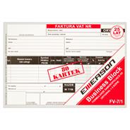 Esselte Faktura VAT 2 kopie 80 kartek A5 2 sztuki