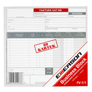 Esselte Faktura VAT 1 kopia 80 kartek 3/4 A4