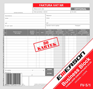 Emerson Faktura VAT 80 kartek 3/4 A4