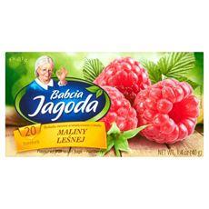 Babcia Jagoda Herbatka owocowa aromatyzowana o smaku maliny leśnej 40 g (20 torebek)