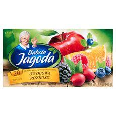 Babcia Jagoda Herbatka owocowa aromatyzowana o smaku owocowa rozkosz 40 g (20 torebek)