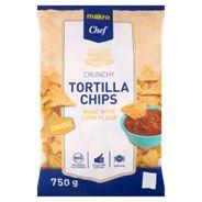 Makro Chef Tortilla Chips (Nachos) przekąski o smaku serowym 750 g