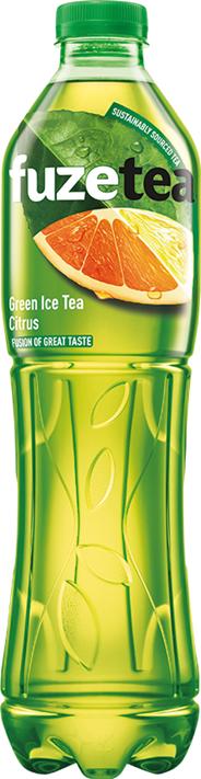 FuzeTea Napój o smaku cytrynowym z ekstraktem z zielonej herbaty 1,5 l 6 sztuk