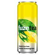 FuzeTea Napój o smaku cytrynowym z ekstraktem z czarnej herbaty i trawy cytrynowej 330 ml 24 sztuki