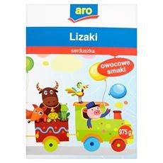 Aro Lizaki serduszka owocowe smaki 975 g (150 sztuk)