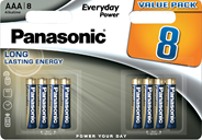 Baterie Alkaliczne Panasonic Everyday Power. Typ AAA (LR03)