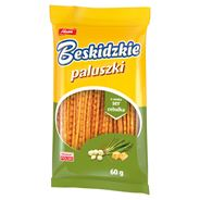 Aksam Beskidzkie Paluszki o smaku ser cebulka 60 g 24 sztuki