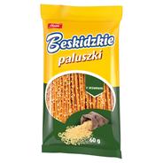 Aksam Beskidzkie Paluszki z sezamem 60 g 24 sztuki