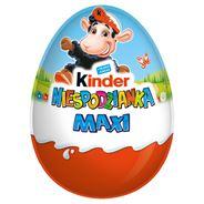 Kinder Suprise Maxi Słodkie jajko z niespodzianką pokryte czekoladą mleczną 100 g