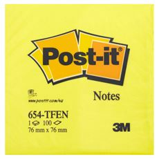 Post-it Super Sticky Karteczki samoprzylepne energiczne kolory 100 karteczek 76x76 mm