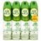 Air Wick 100% Naturalna mgiełka Odświeżacz powietrza białe kwiaty 4 x 240 ml