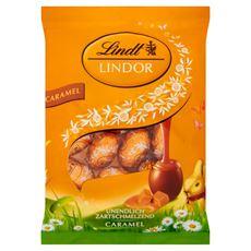 Lindt Lindor Jajeczka z mlecznej czekolady z nadzieniem o smaku karmelowym 100 g