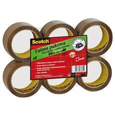 Scotch Taśma pakowa akrylowa brązowa 48 mm x 66 m