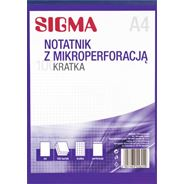 Sigma Notatnik kratka 100 kartek A4 5 sztuk