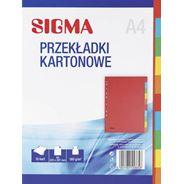 Sigma Przekładki kartonowe 1-10 mix kolorów A4 10 sztuk