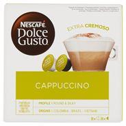 Nescafé Dolce Gusto Cappuccino Kawa i mleko w kapsułkach 186,4 g (8 x 17 g i 8 x 6,3 g)