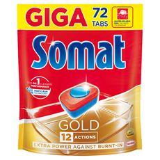 Somat Gold Tabletki do mycia naczyń w zmywarkach 1382,4 g (72 x 19,2 g)