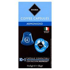 Rioba Armonioso Palona i mielona kawa w kapsułkach 55 g (11 x 5 g)