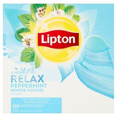 Lipton Herbatka ziołowa mięta pieprzowa 160 g (100 x 1,6 g)