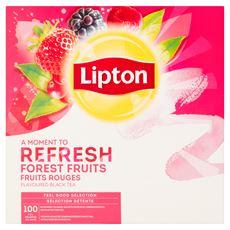 Lipton Herbata czarna aromatyzowana o smaku owoców leśnych 160 g (100 x 1,6 g)