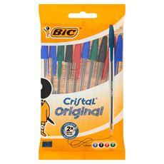 BiC Cristal Original Długopis miks kolorów 10 sztuk