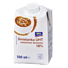 Aro Śmietanka UHT 18% 500 ml 12 sztuk