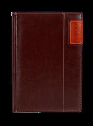 Kalendarz A5 dzienny Standard Plus kolor ciemny brąz