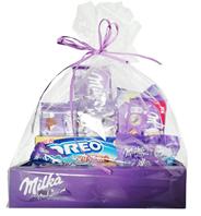 Paczka Świąteczna Fioletowa słodycz - czekoladowa zabawa