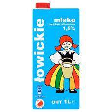 Łowicz Mleko łowickie częściowo odtłuszczone UHT 1,5% 1 l