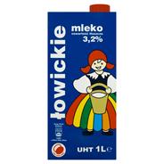 Łowicz Mleko łowickie UHT 3,2% 1 l 12 sztuk
