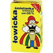 Łowicz Łowicka Śmietanka UHT 30% 250 g 3 sztuki