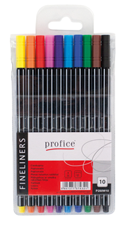 Profice Cienkopisy w etui różne kolory 10 sztuk