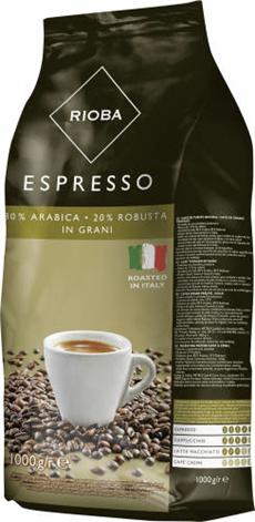 Rioba Espresso Kawa ziarnista prażona gold 1 kg